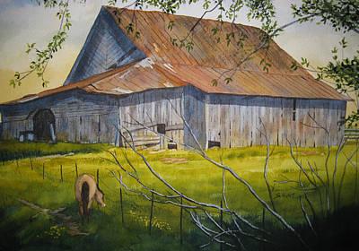 Hilltop Haven Art Print