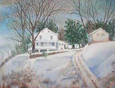 Painting - Hilltop House by Tony Caviston