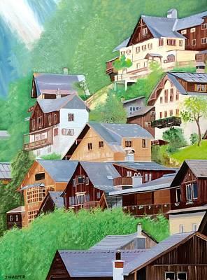 Hilltop Houses Original by Jill Ann Harper