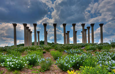 Kevin Hill Photograph - Hilltop Pillars by Kevin Hill
