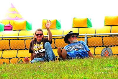 Photograph - Hilltop Spectators by Jesse Ciazza