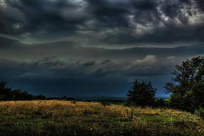 Photograph - Hilltop Storm Front by Dale Kauzlaric