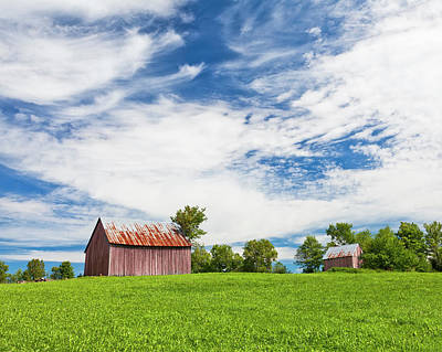 Photograph - Hilltop Summer Barns by Alan L Graham