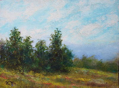 Painting - Hilltop Trees by Kathleen McDermott
