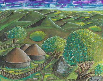 Hilltop View Art Print by Ken Nganga