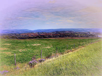Digital Art - Hilltop View by Leslie Montgomery
