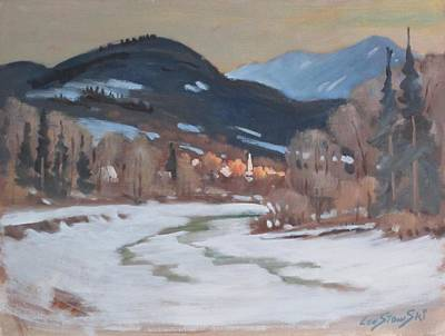 Painting - Hilltown by Len Stomski