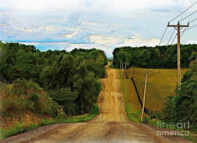 Hilly Country Road Art Print by Anthony Djordjevic