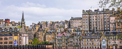 Hilly Skyline Of Edinburgh Art Print