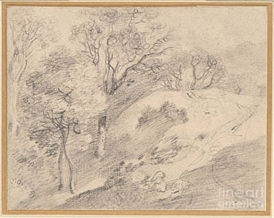 1754 Painting - Hilly Wooded Landscape by Celestial Images