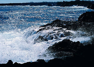 Art Print featuring the photograph Hilo Coast Waves by Gary Cloud
