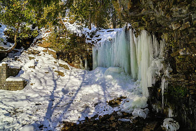 Photograph - Hilton Falls In Winter by Gary Hall