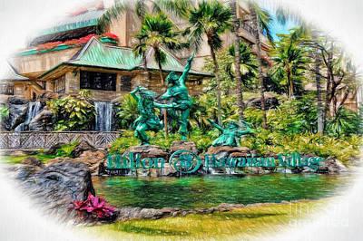 Photograph - Hilton Hawaiian Village Waikiki Beach Resort by Sue Melvin
