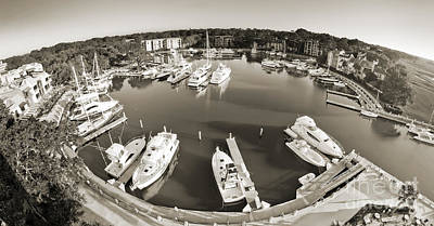 Hilton Head Harbor Town Yacht Basin 2012 Art Print by Dustin K Ryan