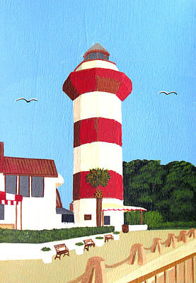 Painting - Hilton Head Lighthouse Painting by Frederic Kohli