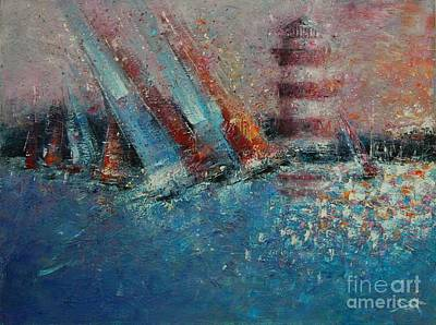 Head Harbour Lighthouse Painting - Hilton Head Regatta by Dan Campbell