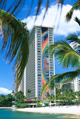 Cavataio Photograph - Hilton Rainbow Tower by Vince Cavataio - Printscapes