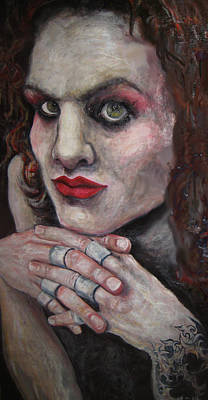Ville Valo Painting - Him-  Close To The Flame by Safir  Rifas