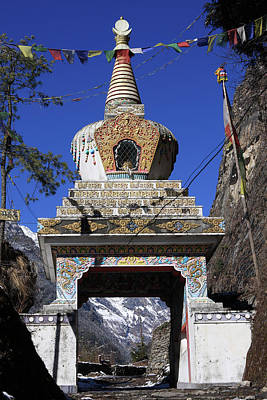 Photograph - Himalayan Buddhist Shrine by Aidan Moran
