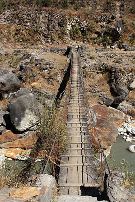 Photograph - Himalayan Foot Bridge by Aidan Moran