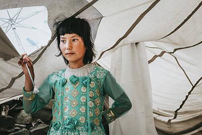 Photograph - Himalayan Girl by Marji Lang
