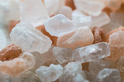 Photograph - Himalayan Pink Salt Macro 2900 by David Haskett II