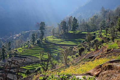 Soap Suds - Himalayan Stepped Fields - Nepal by Aidan Moran