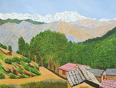 Rudra Painting - Himalayan Trails by Ajay Harit