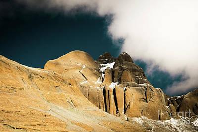 Mandala Photograph -  Himalayas Mountain Kailas Kora Tibet Yantra.lv by Raimond Klavins