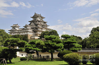Castles Photograph - Himeji Castle And Gardens Japan by Andy Smy