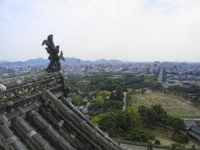 Himeji City From Shogun's Castle Art Print by Daniel Hagerman