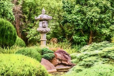 Photograph - Himeji Garden  Go3 by Ray Warren