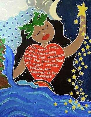 Painting - Hina by Angela Yarber
