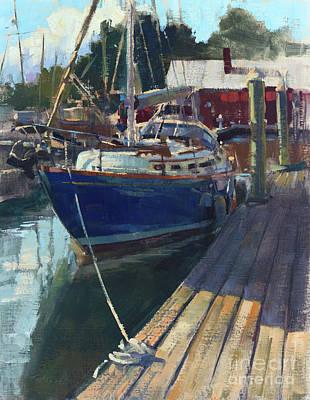 Wall Art - Painting - Hinckley Yacht Marina by Patrick Saunders