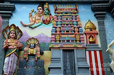Photograph - Hindu Deities On Wall Mural Of Sri Senpaga Vinayagar Tamil Temple Ceylon Rd Singapore by Imran Ahmed