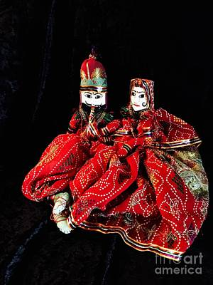 Photograph - Hindu Dolls - Married Couple by The Art of Alice Terrill