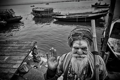 Photograph - Hindu Holy Man Hello by David Longstreath