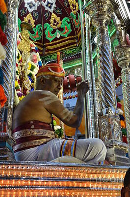 Hindu Goddess Photograph - Hindu Man In Costume Sits On Vehicle For Festival Singapore  by Imran Ahmed
