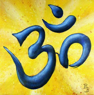 Painting - Hindu Om Symbol Art by Bob Baker