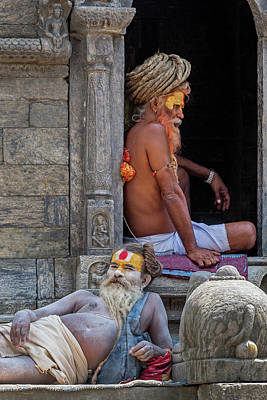 Photograph - Hindu Priest Or Buddhism Holy Man by Azad Pirayandeh