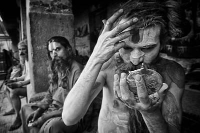 Adults Only Photograph - Hindu Sadhus 1 by David Longstreath