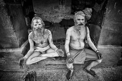 Hindu Sadhus 2 Print by David Longstreath