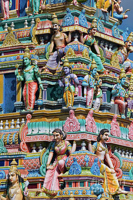 Hindu Goddess Photograph - Hindu Temple Gopuram by Tim Gainey