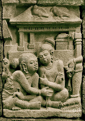 Photograph - Hindu Temple Sculpture - Prambanan I by Sharon Hudson