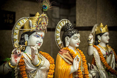 Photograph - Hinduism Statues by Azad Pirayandeh