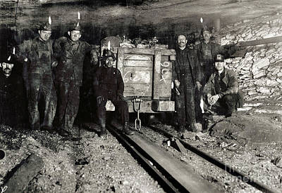 Hine: Coal Miners, 1911 Art Print by Granger