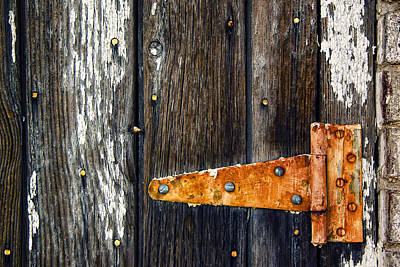 Old Wood Building Photograph - Hinge by Humboldt Street