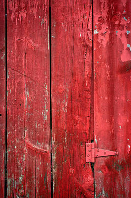 Hinge On A Red Barn Original by Steve Gadomski