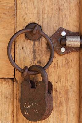 Photograph - Hinges And Locks - 4 by Hany J