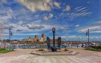 Photograph - Hingham Shipyard Anchor by Brian MacLean